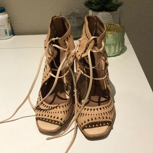 Tan Jeffrey Campbell Wedge size 7